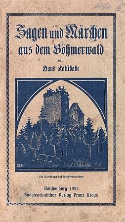 Obálka knižního vydání této sbírky z roku 1925 (Sudetendeutscher Verlag Franz Kraus, Liberec)