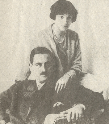 Sascha se svou ženou Sofií Trubeckou