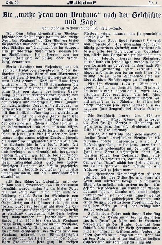 Tady v záhlaví svého příspěvku o Bílé paní uvedl Vídeň i Bor jako místa svého pobytu (v případě Boru zřejmě i původu)