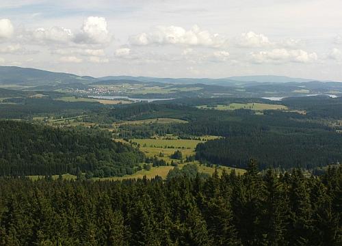 Ještě jeden pohled na Horní Planou z Moldaublicku