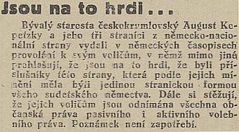 Takto na jeho politické postoje reagoval český list Republikán