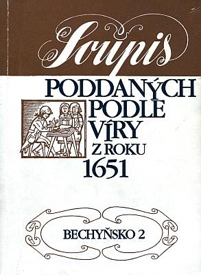 Obálka svazku Soupisu poddaných podle víry z roku 1651 (1997, Státní ústřední archiv v Praze),     který pro tehdejší Bechyňský kraj obsahuje i Köplův text