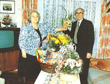 O zlaté svatbě roku 1989 s manželkou Annou ve Freyungu