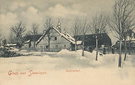 Schürerhof na staré pohlednici