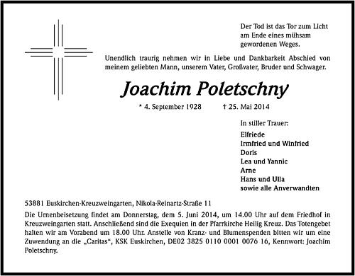 Parte jeho zetě potvrzuje informaci o přesunu rodiny do Euskirchen-Kreuzweingarten