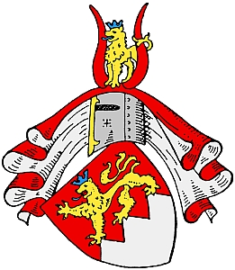 Znak rodu Schönbornů, spojujícího okolí Mukačeva sBudějovicemi a se Šumavou (viz i Berta Ederová)