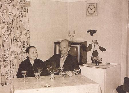 Zlatá svatba manželů Kortusových v roce 1958