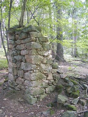 Kaple v lese západně od zcela zbořené vsi Nižší Hodonice