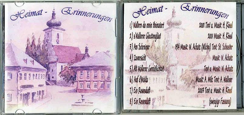Vzpomínky na domov ve zvukovém záznamu (obálka CD)