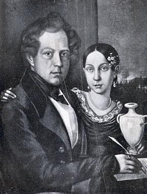 Jeho otec Wilhelm Kralik se svou dcerou Ferdinandou z prvního manželství s Annou, roz.Pinhakovou