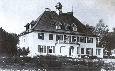 Seidelova pohlednice s lenorskou vilou Kralikových