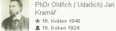 Jeho otec PhDr. Oldřich (Udalrich) Kramář
