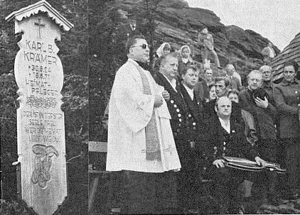 Svěcení umrlčího prkna na hoře Javor