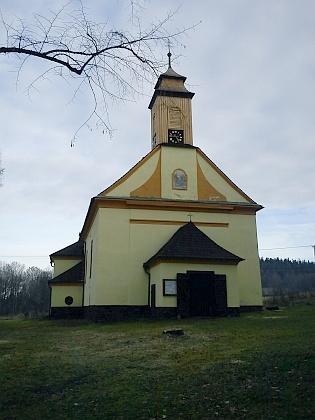 Kostel Jména Ježíš v Křišťanově na snímku zroku 2012