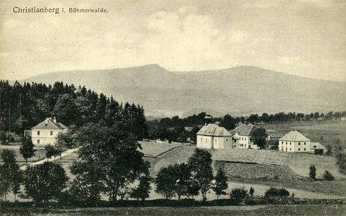 Křišťanov na pohlednici Josefa Seidela