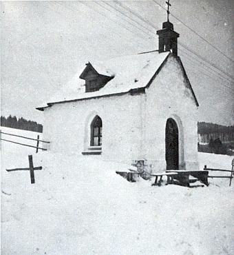 Kaplička v rodné osadě Nové Domky