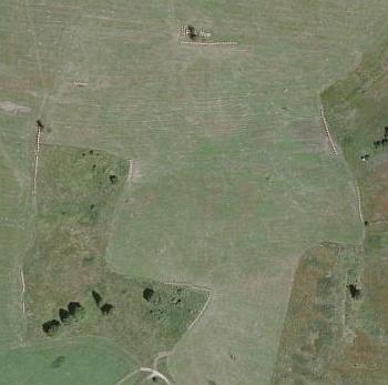 Svánkov, odkud pocházela jeho manželka, na leteckých snímcích z let 1949 a 2008
