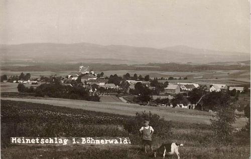 """Stará pohlednice Malont dokazuje, že se německy psaly skutečně """"im Böhmerwald"""""""