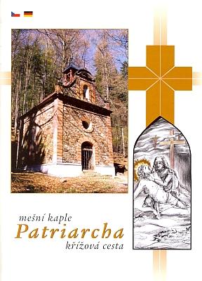 Obálka brožury o mešní kapli Patriarcha s křížovou cestou a názorná mapka