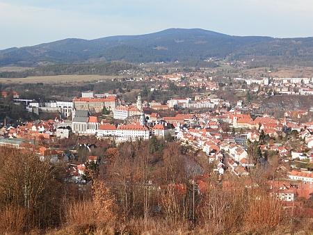 Český Krumlov z Křížové hory