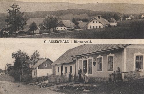 """Glaserwald na staré """"složené"""" pohlednici"""
