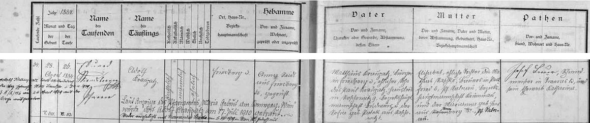 """Z přípisů k záznamu o narození Adolfa Kraupatze ve frymburské matrice je patrno, že se dle zprávy farního úřadu """"Maria Geburt am Rennweg"""" ve Vídni v červenci 1910 oženil a v srpnu 1919 také ve Vídni podruhé s Franziskou Skoda, v dubnu 1939 ve Vídni pak vystoupil z římskokatolické církve"""