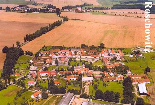Radošovice na leteckém snímku