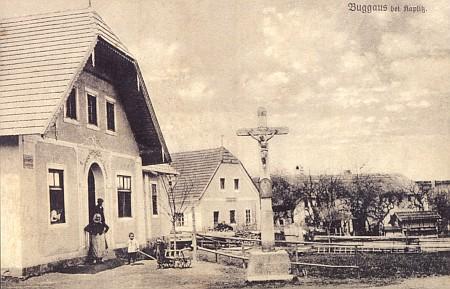 Bukovsko, kde učil, na staré pohlednici...