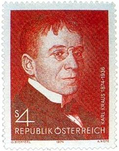 Na rakouské poštovní známce ke 100.výročí jeho narození (1974)