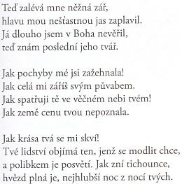 Český překlad jiné z jeho básní, věnovaných Sidonii Nádherné