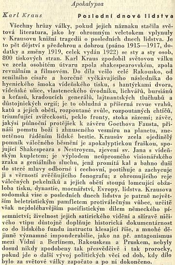 O jeho vrcholném díle se takto rozepsal Pavel Eisner ve sborníku Co číst z literatur germánských (1935)
