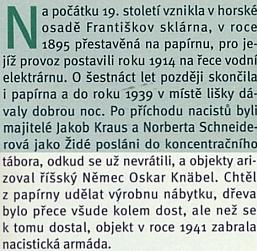 V článku Jiřího Bílka Tajemství Františkova je zmíněn i osud Jakoba Krause