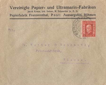 ... a dopisní obálka s firmou už z časů první republiky