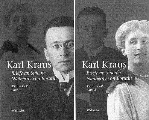 Obálky dvou dílů vydání jeho korespondence se Sidonií Nádhernou von Borutin z let 1913-1936 z nakladatelství Wallstein v Göttingen
