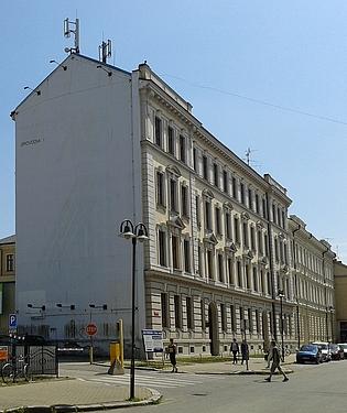 Budova německého učitelského ústavu vČeských Budějovicích, dnes sídlo Pedagogické fakulty Jihočeské univerity