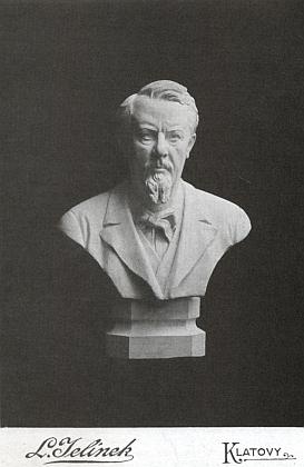 Sádrová bysta s jeho poprsím od Ladislava Borůvky z roku 1900