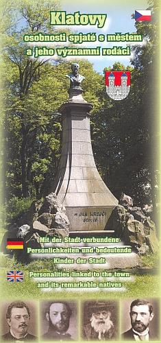 Pomník v Klatovech na titulu skládačky (2007) oosobnostech města