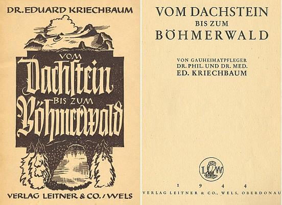 Obálka a titulní list (1944) knihy vydané nakladatelstvím Leitner ve Welsu