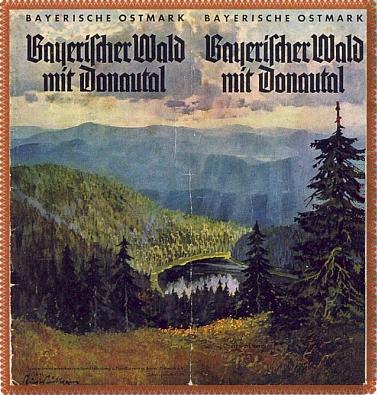 """Tady se hned roku 1938 ocitlo jedno ze šumavských jezer na prospektu """"Bavorské Východní marky"""" jako součást """"Bavorského lesa s údolím Dunaje"""""""