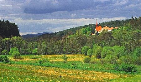 Zátoň v malebné krajině Českokrumlovska