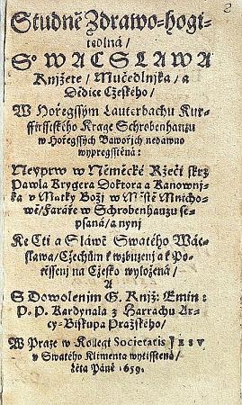 ... a titulní list českého překladu z roku 1659 z Vědecké knihovny v Olomouci