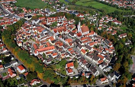 Historické jádro města Schrobenhausen