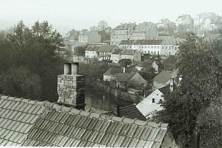 Českokrumlovská Horní brána na starší fotografii