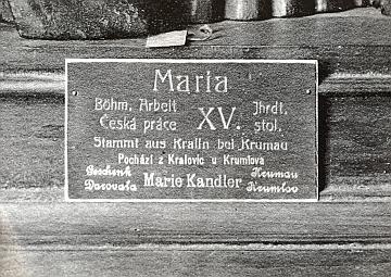 """Snímek """"polosochy"""" z expozice českobudějovického muzea asizroku 1915"""