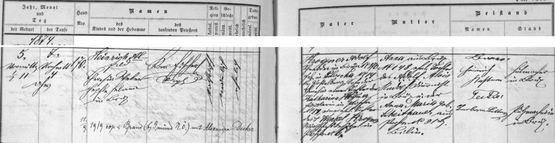 Záznam o jeho narození v mostecké křestní matrice, z něhož vysvítá, že spatřil světlo světa v půl jedenácté dopoledne 5. února roku 1874 v Mostě čp. 170, kde byl krejčím jeho otec Adolf Krogner, narozený v Blažimi (Ploscha) čp. 14, okr. Postoloprty (Postelberg), jako nemanželský syn Theresie Krognerové, nemanželské dcery Kathariny Krognerové, domkářky v Blažimi čp. 14 a manžeské dcery Wenzela Krognera, majitele hospodářství v Blažimi čp. 6; chlapcova matka Anna z Mostu čp. 148 byla manželskou dcerou mosteckého diurnisty Aloise Rudolfa a Anny Marie, roz. Scheithauerové z Braňan (Prohn) čp. 31, okr. Bílina - pozdější přípis nás zpravuje o svatbě Heinricha Alfreda Krognëra (tak byl alespoň dva dny po svém narození 7. února ve 4 hodiny odpoledne pokřtěn) dne 11. září 1919 v dolnorakouském Brandu , okr. Gmünd, s Alexandrou Deckerovou
