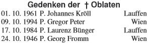 Připomínka výročí jeho úmrtí v příloze listu Marianisches Missionswerk z října 2007