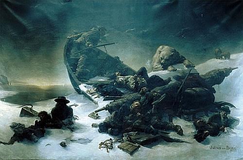 ... a jeho slavný obraz Záliv smrti z roku 1897, visící dnes v pražském Geofyzikálním ústavu,zobrazující ovšem tragédii polární výpravy Johna Franklina (1786-1847)