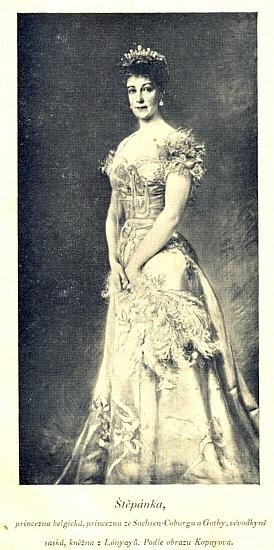 Rudolfova choť princezna Štěpánka Belgická