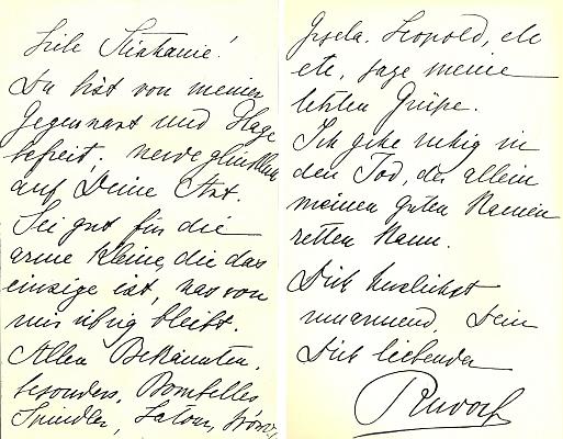 Rudolfův dopis Štěpánce na rozloučenou