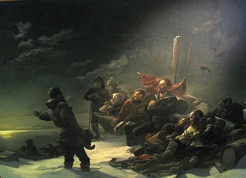 Nejznámější Payerův obraz s názvem Nikdy zpět! (1888, o rozměrech 4x3,5 m), věnovaný císaři Františku Josefovi I., zachycuje okamžik,     kdy musí oznámit svým druhům, že loď nelze vyprostit z ledu a nezbývá než nastoupit pěší pouť za nejistým osudem